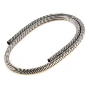 Шланг силиконовый (серебристо-черный )