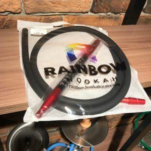 Мундштук +шланг Rainbow (черный шланг,черно-красный мундштук)