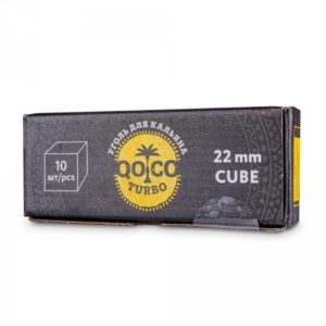 Уголь Qoco turbo cube (22мм;10шт)