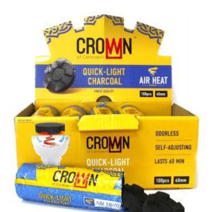 Уголь CROWN 40 мм быстроразжигающийся